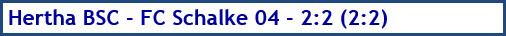 Hertha BSC - FC Schalke 04 - 2:2 (2:2) - Spielergebnis - Januar 2019