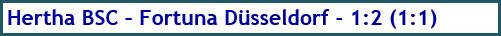 Hertha BSC - Fortuna Düsseldorf - 1:2 (1:1) - Spielergebnis - April 2019