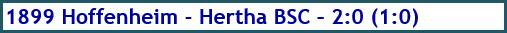 TSG 1899 Hoffenheim - Hertha BSC - 2:0 (1:0) - Spielergebnis - April 2019