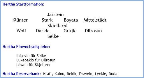 1. FC Köln - Hertha BSC - 0:4 (0:1) - Mannschaftsaufstellung - September 2019