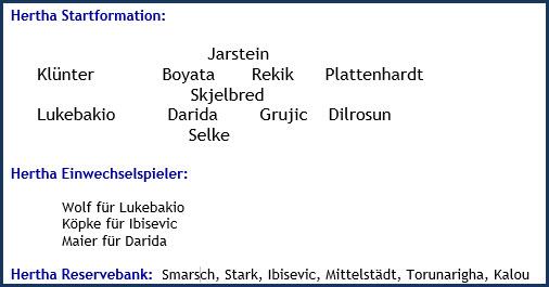 Bayer 04 Leverkusen - Hertha BSC - 0:1 (0:0) - Mannschaftsaufstellung - Dezember 2019
