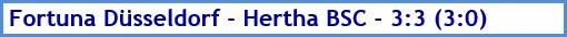 Fortuna Düsseldorf - Hertha BSC - 3:3 (3:0) - Spielergebnis - Februar 2020