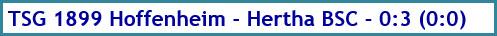 TSG 1899 Hoffenheim - Hertha BSC - 0:3 (0:0) - Spielergebnis - Mai 2020