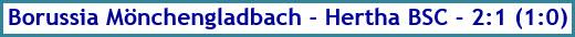 Borussia Mönchengladbach - Hertha BSC - 2:1 (1:0) - Spielergebnis - Juni 2020