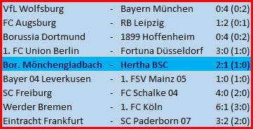 Tor Vedad Ibisevic Borussia Mönchengladbach Hertha BSC - 2:1