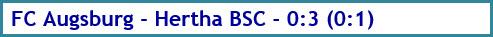 FC Augsburg - Hertha BSC - 0:3 (0:1) - Spielergebnis - November 2020