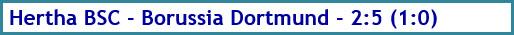 Hertha BSC - Borussia Dortmund - 2:5 (1:0) - Spielergebnis - November 2020