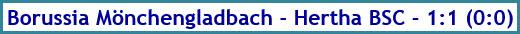 Borussia Mönchengladbach - Hertha BSC - 1:1 (0:0) - Spielergebnis - Dezember - 2020