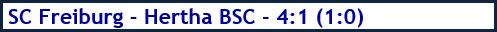 SC Freiburg - Hertha BSC - 4-1 (1:0) - Spielergebnis - Dezember - 2020