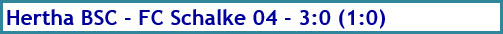 Hertha BSC - FC Schalke 04 - 3:0 (1:0) - Spielergebnis - Januar - 2021