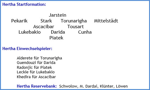 Hertha BSC - FC Bayern München - 0:1 (0:1) - Mannschaftsaufstellung - Februar - 2021
