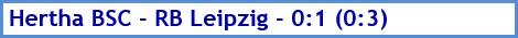 Hertha BSC - RB Leipzig - 0:1 (0:3) - Spielergebnis - Februar - 2021