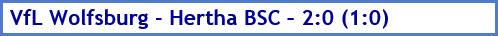 VfL Wolfsburg - Hertha BSC – 2:0 (1:0) - Spielergebnis - Februar - 2021