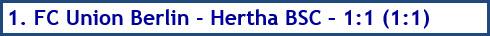 1. FC Union Berlin - Hertha BSC – 1:1 (1:1) - Spielergebnis - April - 2021