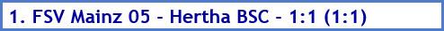 1. FSV Mainz 05 - Hertha BSC – 1:1 (1:1) - Spielergebnis - Mai - 2021