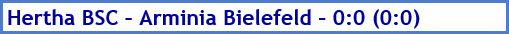 Hertha BSC - Arminia Bielefeld - 0:0 (0:0) - Spielergebnis - Mai - 2021