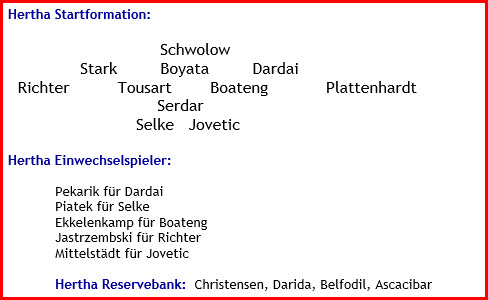 Hertha BSC - SC Freiburg - 1:2 (0:1) - Mannschaftsaufstellung - Oktober - 2021