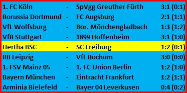 Trainer Pal Dardai Hertha BSC - SC Freiburg - 1:2 (0:1)